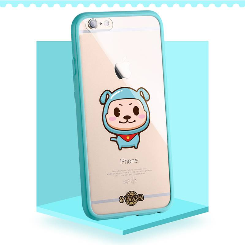 PUZOO Hot Sale Cute TPU+PC Transparent phone cover for iphone 6 s Plus