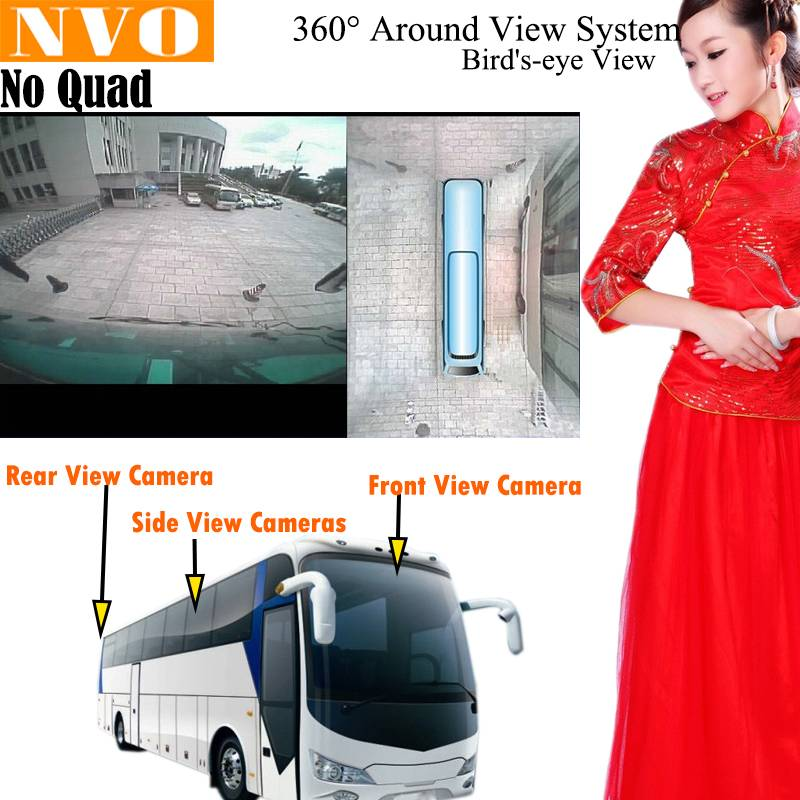 360 Around View Parking Assist Universal For Bus with DVR function Bird's-eye View Parking Aid