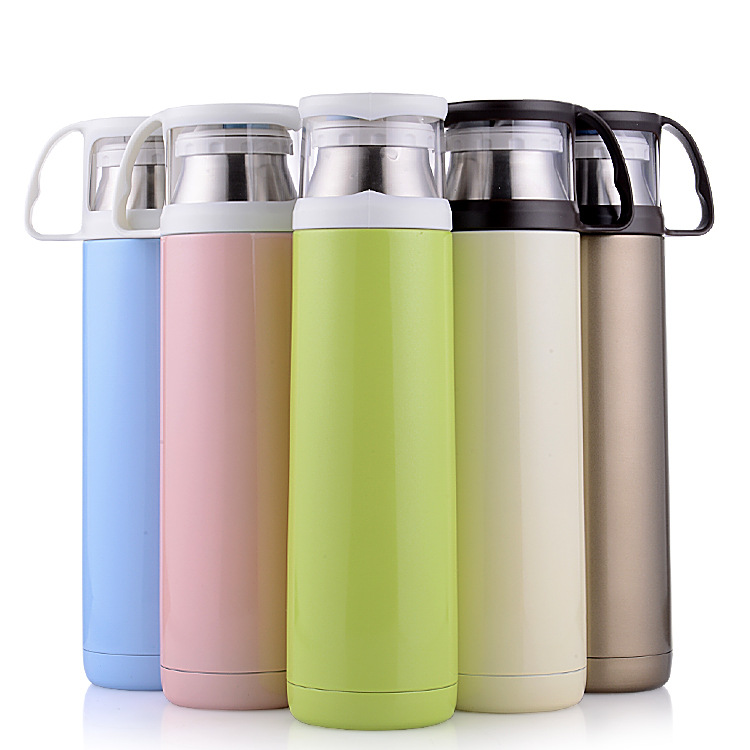 ZC-GZ-D Stainless Steel thermos Bottle, Vacuum Insulated Water Bottle with Handle Cup for Hot or Col
