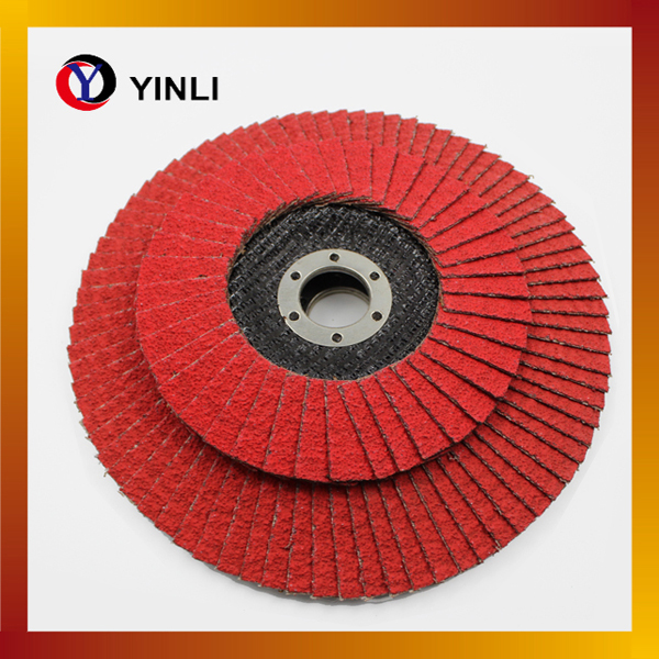 5'' Abrasive red color Flap Disc with VSM ceramic