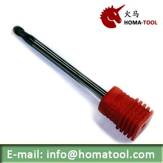Ball Nose Solid End Mills for High Hardness Steel