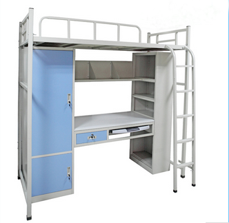 Newfield Strong School Dormitory Metal Bunk Bed Double Decker Iron Bed for Sale