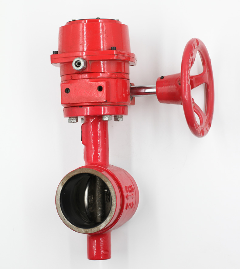 Grooved type butterfly valve