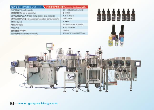 GZX-608 Small dose Automatic linear filling line