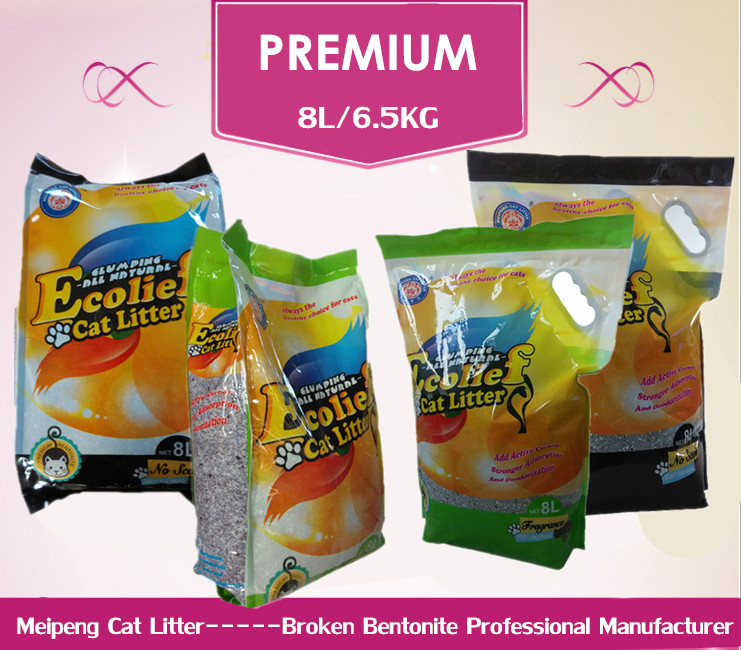 High quality clumping cat litter bentonite cat sand