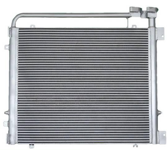 Aluminum Plate Bar Excavator Transmission Oil Cooler For Komatsu PC200-7