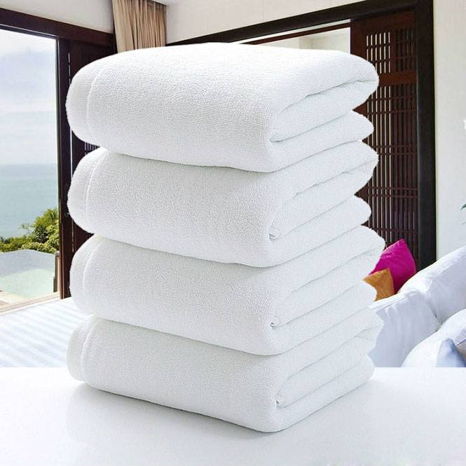 100% cotton white hotel bath towel