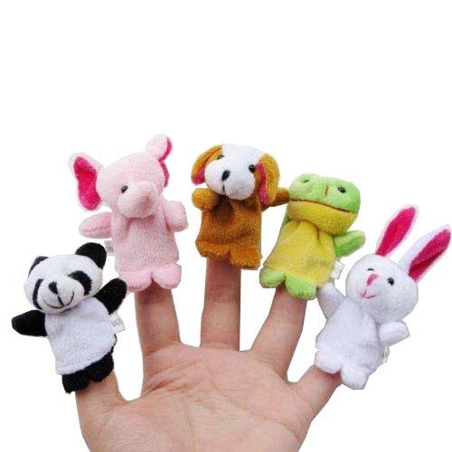 Accept OEM Velvet Animal Finger Puppets