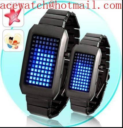 Fashion LED watch men lady wrist watch