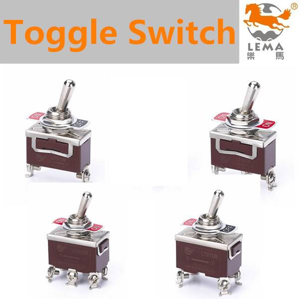 Lema Single pole double throw OFF screw terminal auto return toggle switch