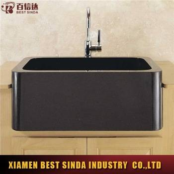 Small absolute black granite kitchen sink