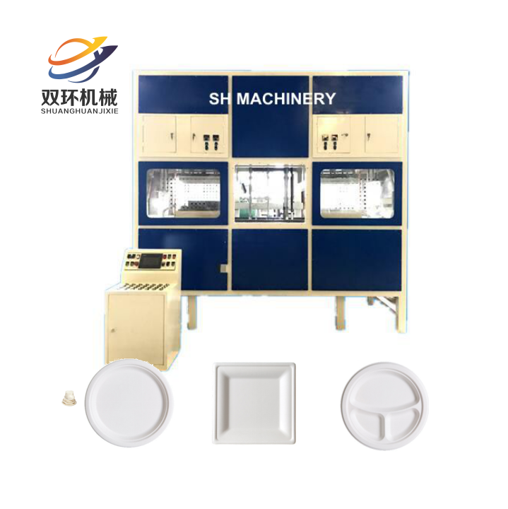 Biodegradable Bagasse Pulp paper Tableware plate Making Machine Disposable Paper Dish Making Machine