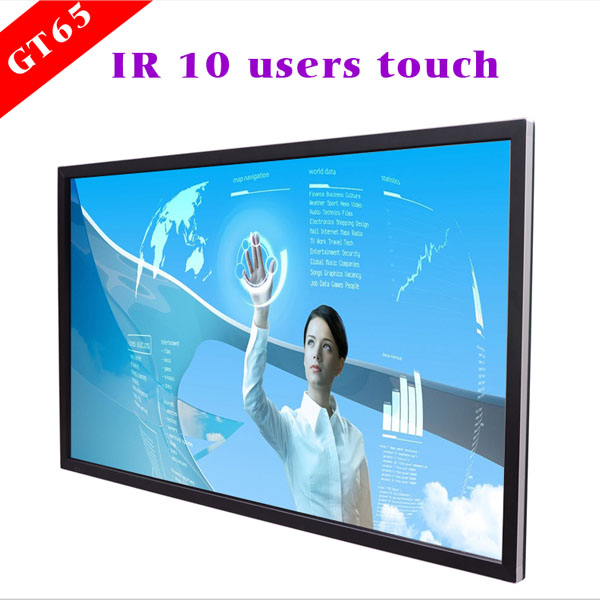 75 inch wall interactive cheap touch screen monitor with wifi/3G