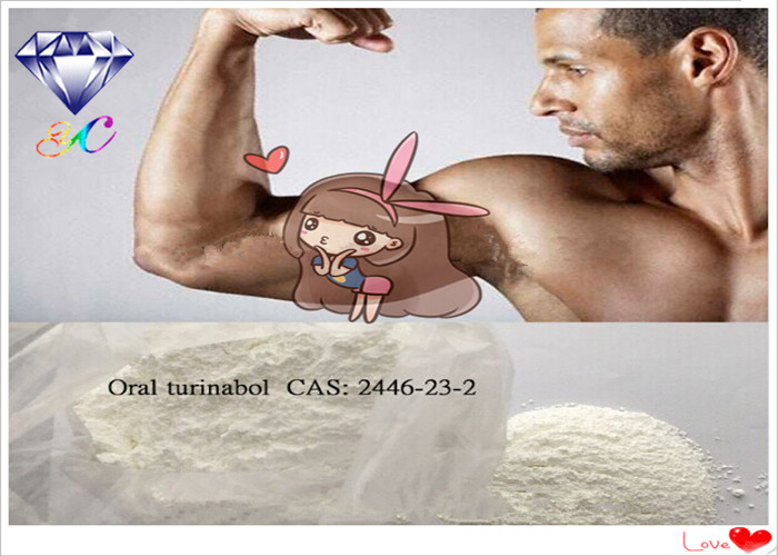 Oral Turinabol Testosterone Anabolic Steroid 99% CAS 2446-23-3 for Anti Estrogen and Muscle Gain