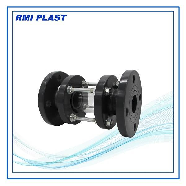 PVC, PVDF, PP sight glass