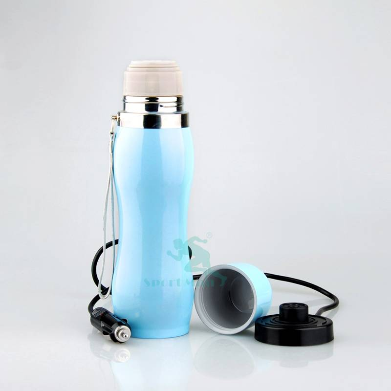 Car Electric Travel Mug 12V Insulated Stainless Steel 0.5l Heated Cup Thermos