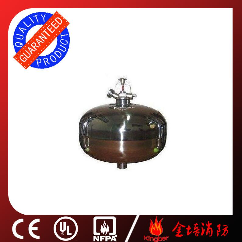 3KG Stainless Steel Dry Powder Fire Extinguisher for Warehouse Using with ISO Approval(Hanging)