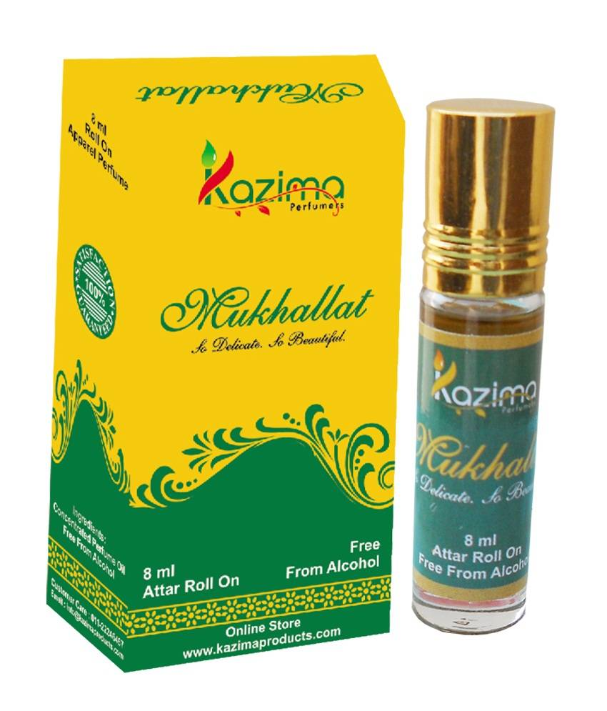 Mukhallat 8ml Roll on Attar Itr Perfume Oil Free From Alcohol