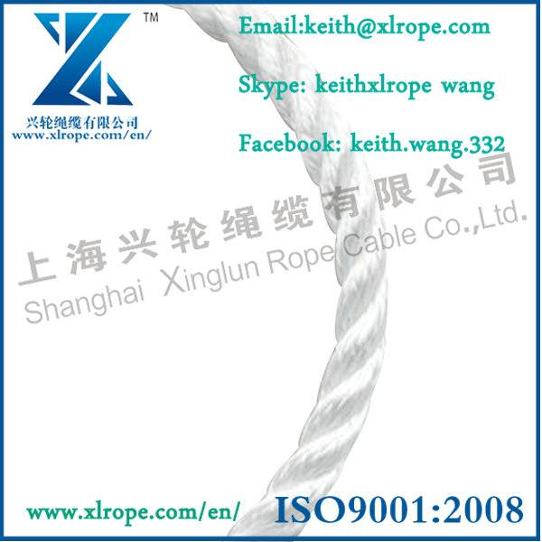 3 strand polyester rope for ship and boat