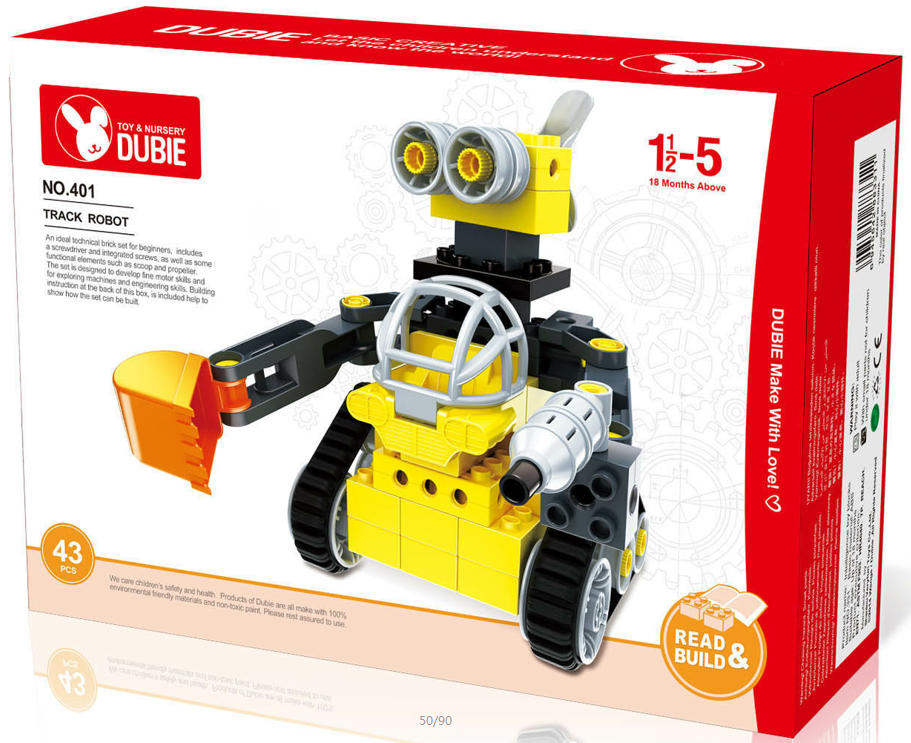Track Robot big block set STEM block toys