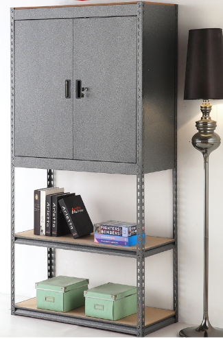 metal shelf rack combined storage cabinet