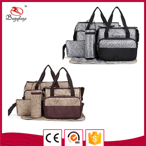wholesale printed nylon 6pcs handbag baby diaper bag mama bag