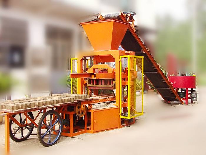 QT4-26 cement block making machine / small block production line
