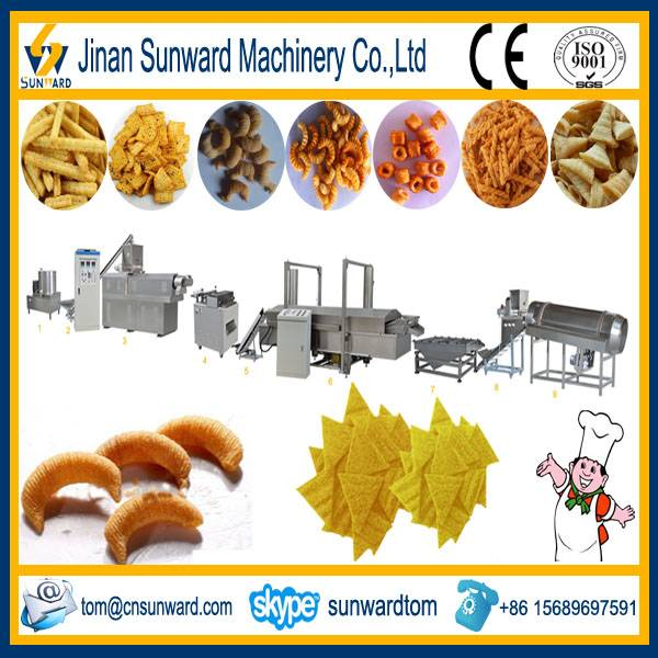 Fried Corn Chips Snack Food Extruder Machine