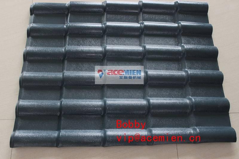 350kg/h PVC roof tile making machine