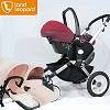 2016 good 3 in 1 strong baby pushchairs produced by Landelopard supplier with high landscape seat an