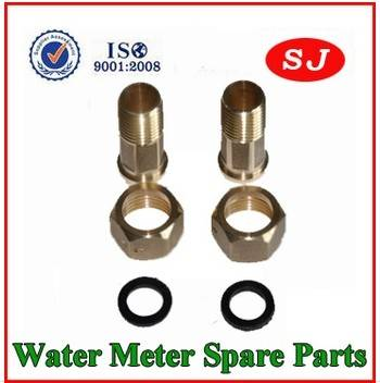 The water meter adaptors are made of high grade brass. The adaptors are used to connect with water p