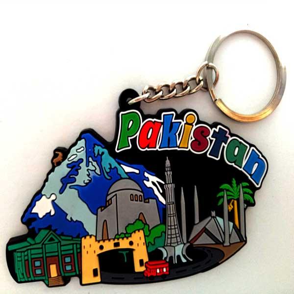 Customize Pakistan souvenir embossed design keychain