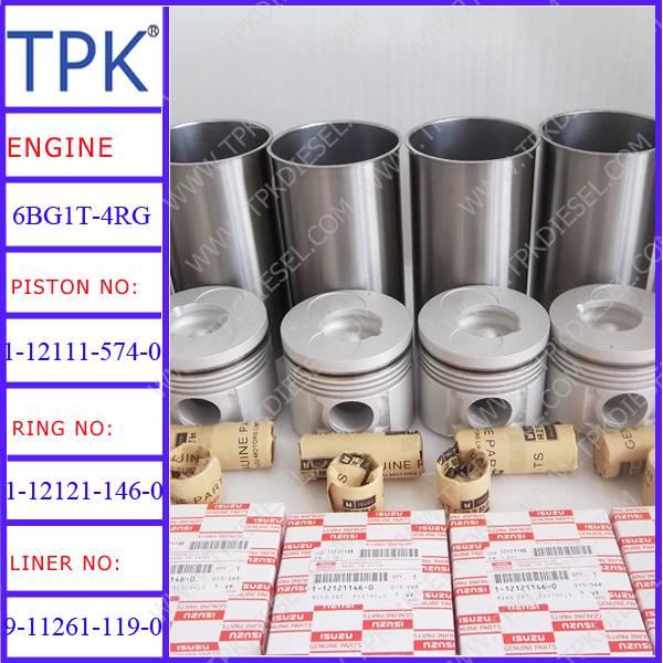 Isuzu 6BD1T,6BG1T,6HK1, 6HH1, 6SD1, 4HF1,10PD1 Engine Parts, Liner kit, Piston, Ring Set, Cylinder L