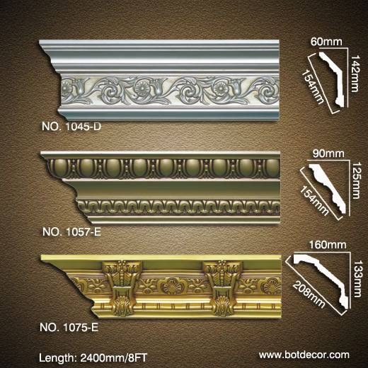 Interior Building PU Carved Cornice moulding