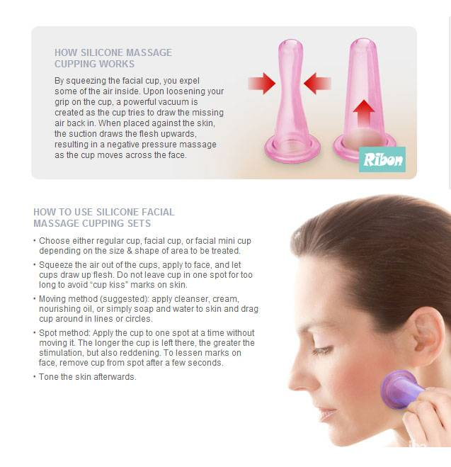 Facial Silicone suction Cupping Cups Facial massage device