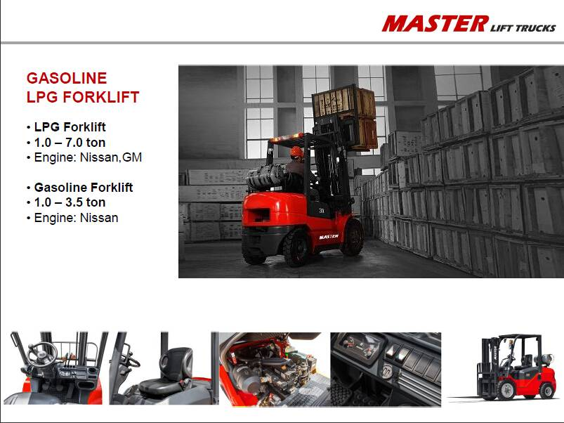 Master Forklift - 1.0-5.0 ton Gasoline LPG Forklift