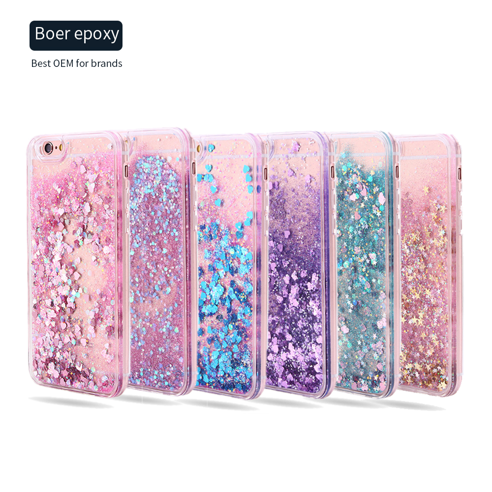 Anti gravity falling glitter phone case