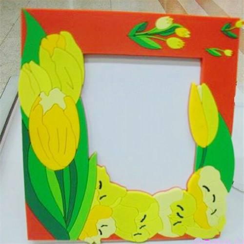 soft pvc fridge magnet photo frame /soft rubber photo frame fridge magnet