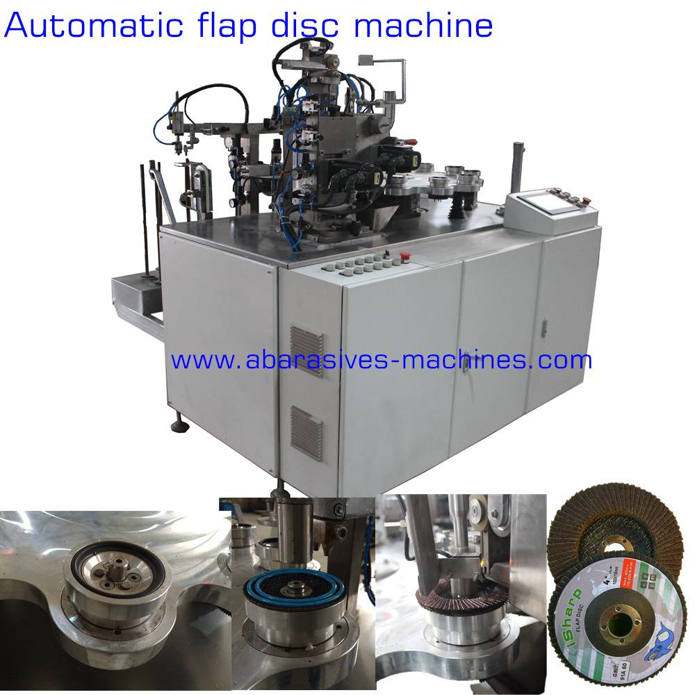 Flap disc machine