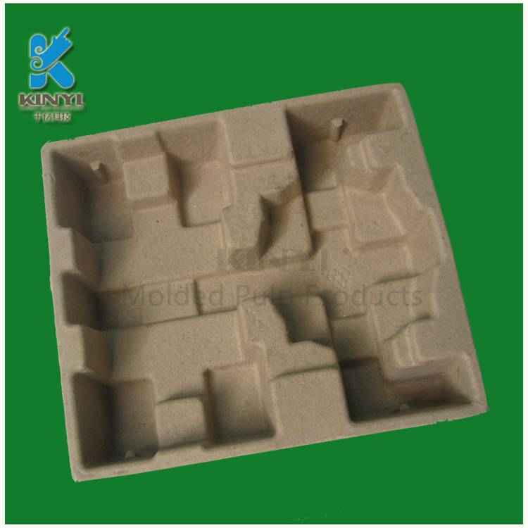 Biodegradable paper pulp molded electronic protective packaging
