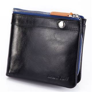 Hautton Brand in Stock Black Color Squeeze Leather Custom Coin Purse QB31
