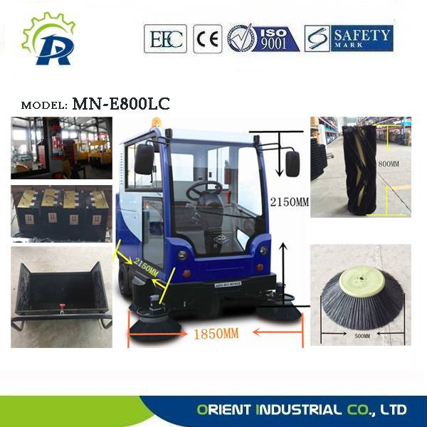 New all-closed sweeper