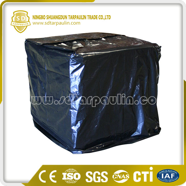 Black Chemically Resistant Polyester Pallet Tarpaulin