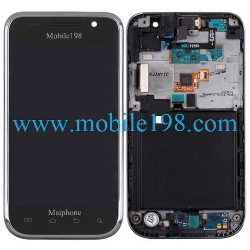 LCD Screen Display with Front Housing for Samsung Galaxy S 4G Sgh-T959 Mobile Phone