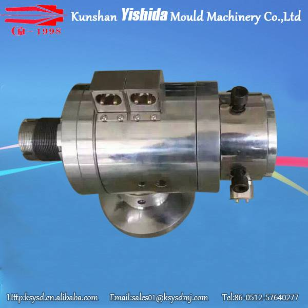 adjustable extrusion cross head for wire/cable extrusion line