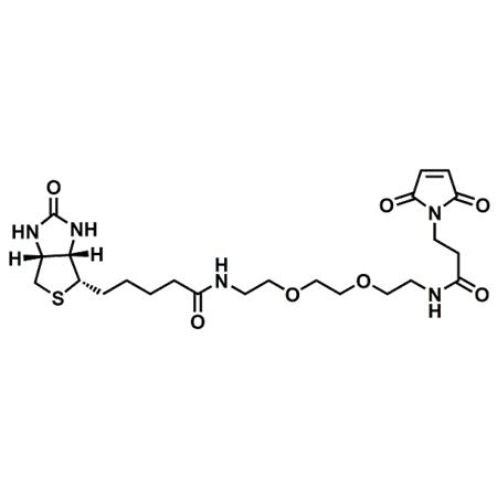 (+)-Biotin-PEG2-Maleimide;(+)-Biotin-PEG2-NH-Mal;CAS#305372-39-8