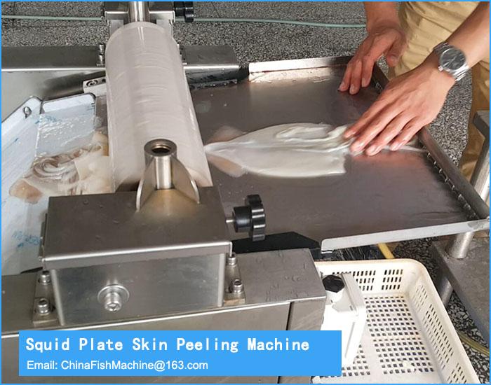 Squid Skinning and slicing processing machine
