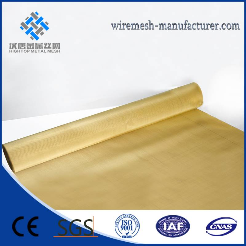 Chinese Top quality brass wire mesh for filtering