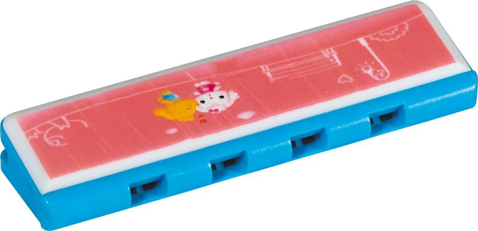kids 4 holes 8 notes cheap cartoon harmonica toy for sale