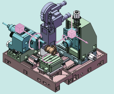 Valve processing special machine tool